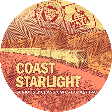 Etykieta - Coast Starlight